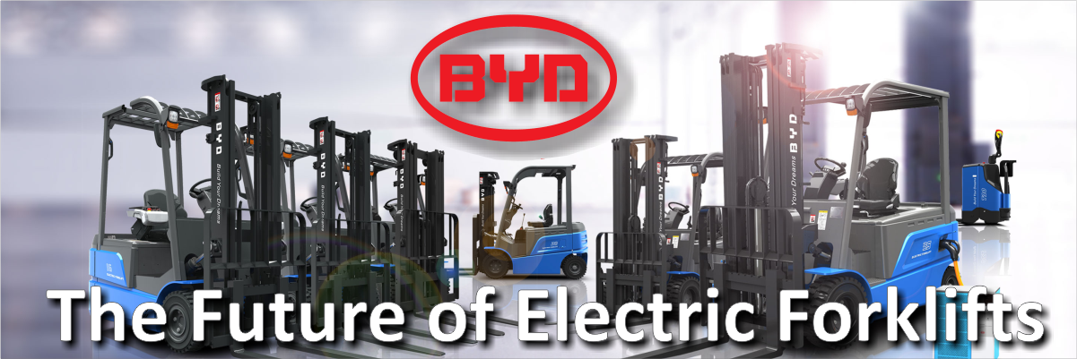 BYD Electric Forklifts Banner